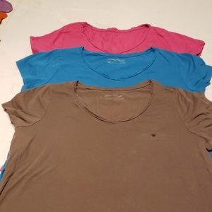 3 Eddie Bauer shirt sleeve lot, size 2xl